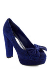 High Resolution Heel - Blue, Solid, Bows, Sequins, Party, Winter, 30s, 40s, 50s, Rockabilly, Pinup
