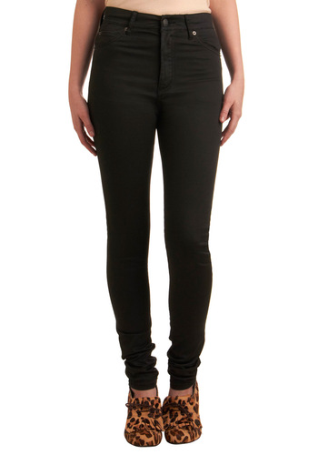 Slacks Are the New Black Jeans by Cheap Monday - Black, Solid, Pockets, Long, Rockabilly, Pinup