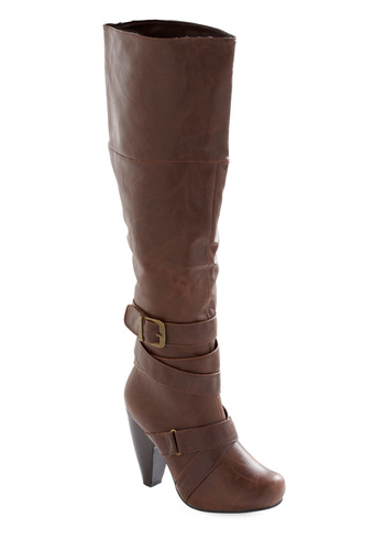 In the Country Boot - Brown, Solid, Buckles, Casual, Winter