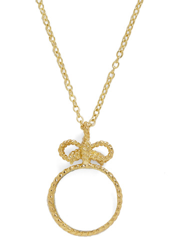 Window to Your Soul Necklace - Gold, Party