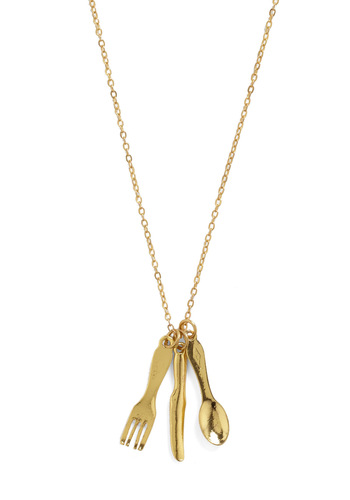 Cutlery It Out Necklace - Gold