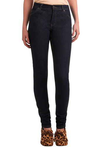 "Stylish Simplicity Jeans (32"") by Cheap Monday - Blue, Solid, Pockets, Long, Rockabilly, Pinup, Vintage Inspired, 30s, 40s, 50s, Denim"