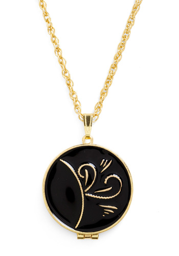 Couture Character Necklace - Black, Gold