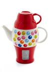 Gum Over and Chat Tea Set - Red, Blue, Pink, White