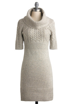 Changing Seasons Dress in Winter Grey