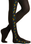Strand of Springtime Tights - Black, Orange, Yellow, Green, Blue, Floral