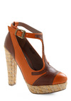 To Wreath Her Own Heel - Orange, Brown, Woven, High, Better, T-Strap