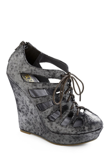 Tinsel Toes Wedge - Silver, Cutout, Party, Winter, Wedge