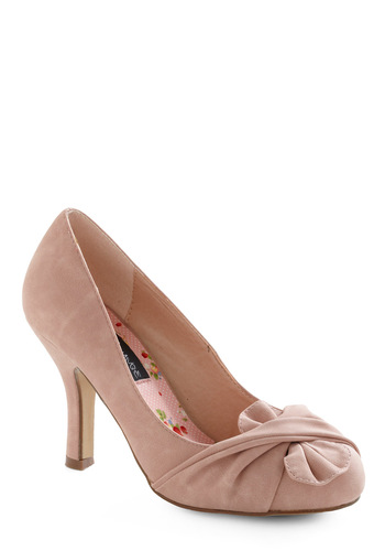 Like It or Knot Heel in Rose - Pink, Solid, Party, Spring