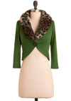 Jubilant Jungle Cardigan - Green, Brown, Tan / Cream, Black, Solid, Animal Print, Buttons, Long Sleeve, Party, Fall, Winter, Short