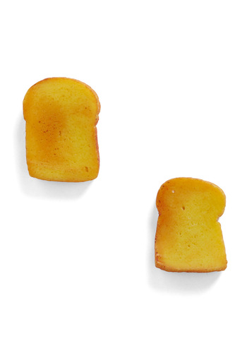 You're Toast! Earrings - Yellow