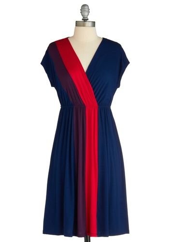 Ray of Bright Dress - Multi, Red, Blue, Purple, Casual, A-line, Short Sleeves, Summer, Mid-length, Jersey, V Neck, Tis the Season Sale, Travel, Exclusives