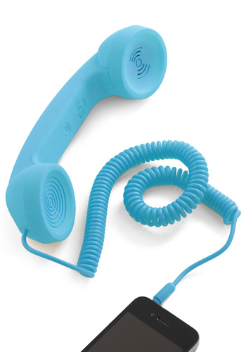 Call to Charm Cell Phone Handset in Blue - Blue, Solid, Quirky, Top Rated