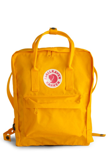 Wherever You Wander Backpack in Sunshine by Fjällräven - Yellow, Solid, Casual, Holiday Sale, Work, Scholastic/Collegiate, Travel, Graduation, Summer, Social Placements, Woodland Creature, Fall