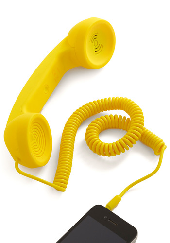 Call to Charm Cell Phone Handset in Yellow - Yellow, Solid
