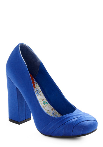 30th Century Glam Heel - Blue, Solid, Work