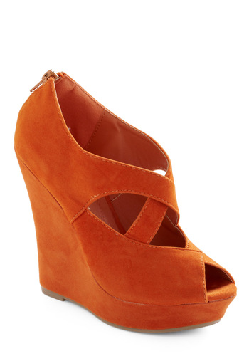 Oh My Darling Wedge - Orange, Solid, Wedge