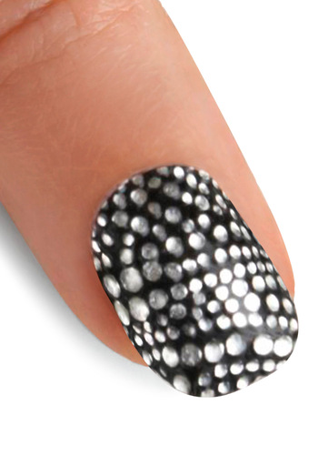 At Your Fingertips Nail Stickers in Star Studded - Silver, Black, Polka Dots