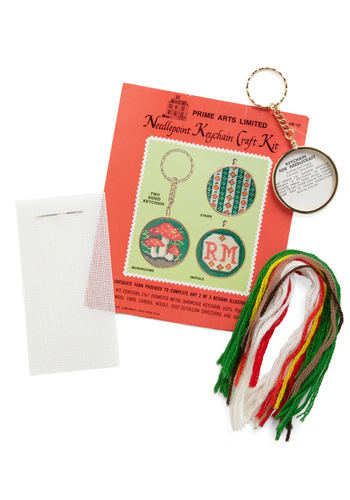 Vintage To the Needlepoint DIY Keychain Kit in Mushroom
