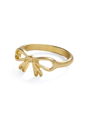 Golden Gift Ring - Gold, Solid, Bows