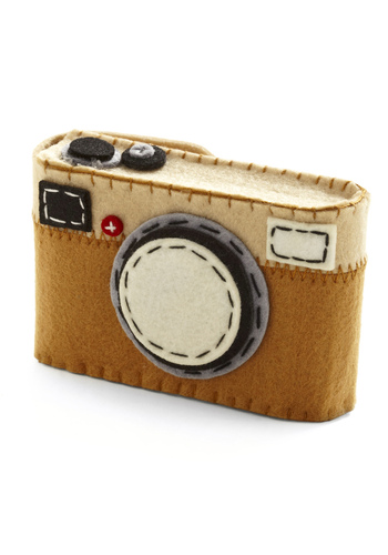 I Felt Photogenic Camera Case - Multi, Tan / Cream, Black, Grey, Graduation