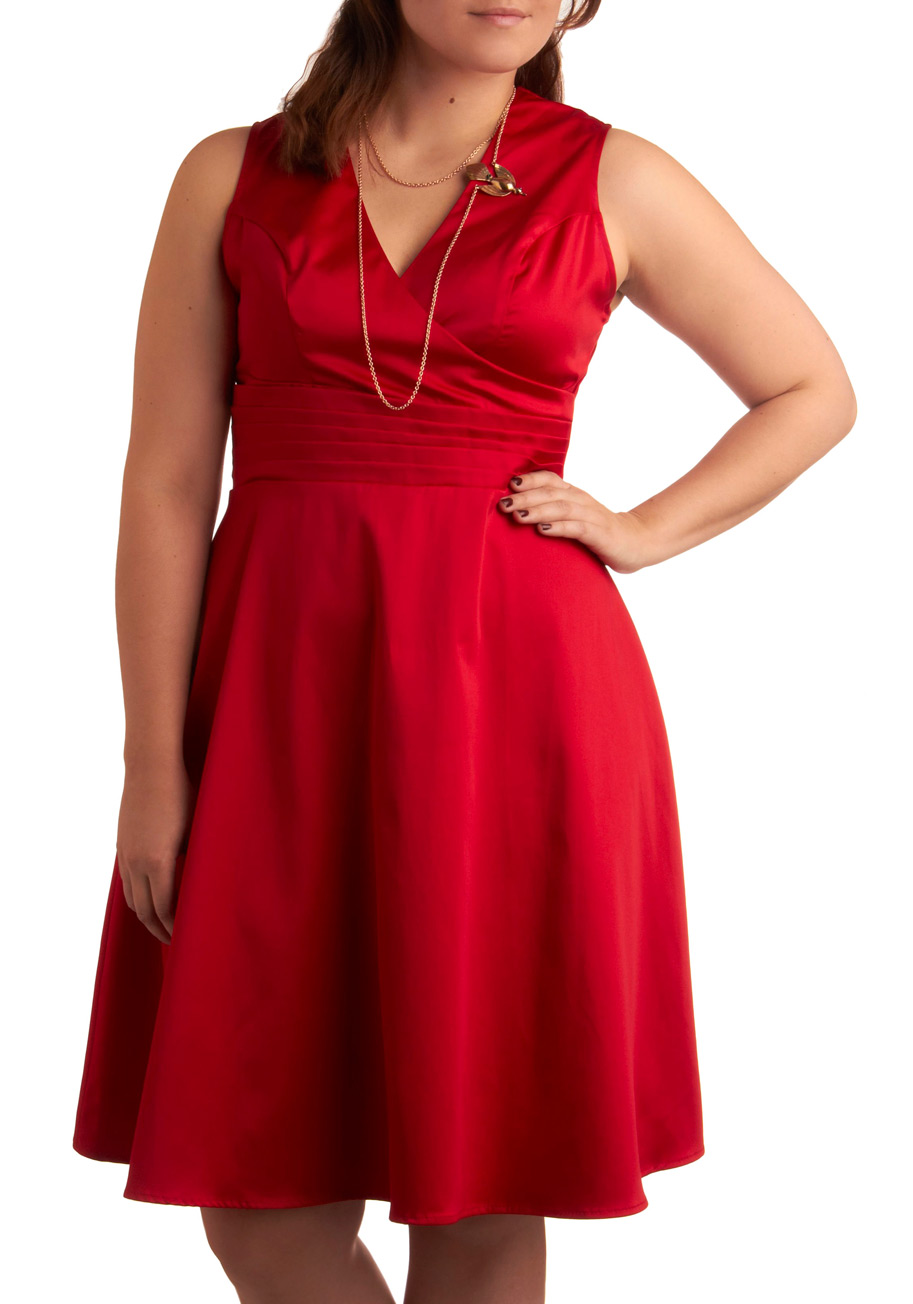 Plus size red dress canada