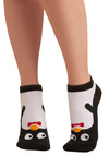 Kindred Soles Socks in Penguin - Black, Red, White, Yellow, Knitted, Top Rated