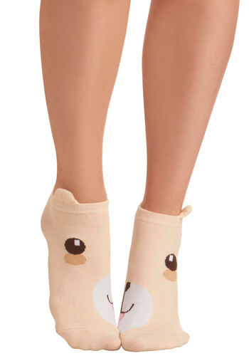 Kindred Soles Socks in Bear - Tan, Brown, White, Knitted