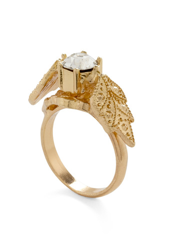 Won't Leaf You Behind Ring - Gold, Formal, Wedding, Party