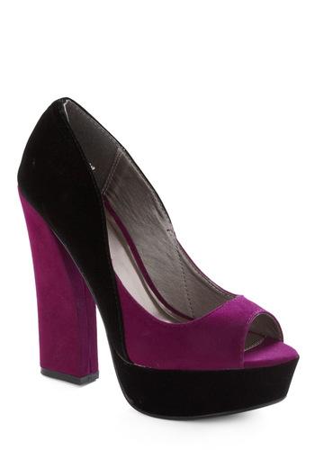 Tone of a Kind Heel - Purple, Black
