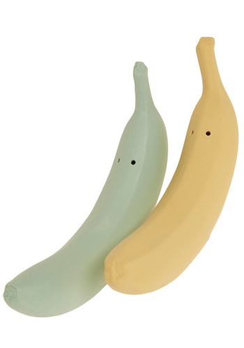 Ripe and Ready Salt and Pepper Shakers - Yellow, Green, Dorm Decor, Fruits