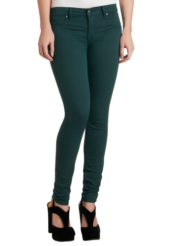 Fit to Wear Jeans by Blank NYC - Green, Solid, Casual, Long