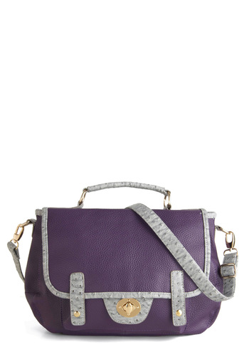 Catch a Cab Bag - Purple, Grey, Solid, Work