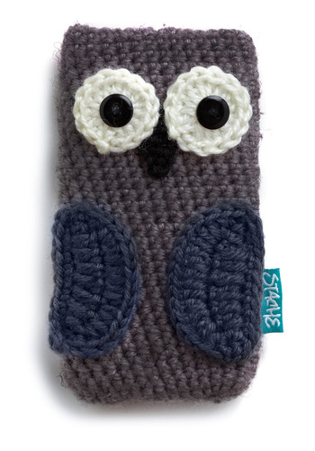 At Your Beak and Call Media Case in Owl - Purple, Black, Grey, White, Owls, Kawaii, Eco-Friendly, Travel, Top Rated