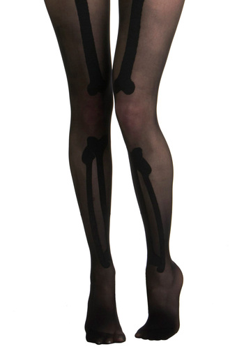 No Bones About It Tights - Black