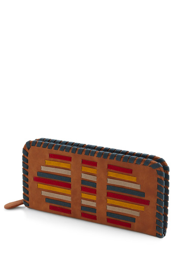 What a Re-treat Wallet - Brown, Red, Yellow, Blue, Trim