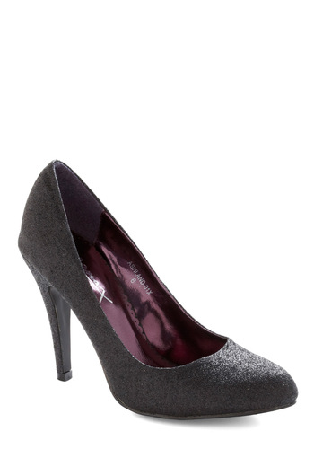 Sparkle an Interest Heel in Night - Black, Party, Glitter, Cocktail, Girls Night Out, Holiday Party, High, Special Occasion