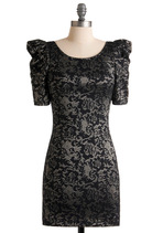 Shadow Art Dress | Mod Retro Vintage Dresses | ModCloth.com :  scoop back have silver bar