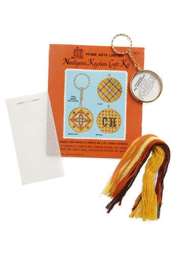 Vintage To the Needlepoint DIY Keychain Kit in Medallion