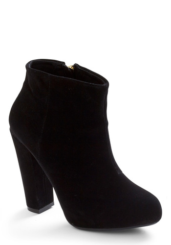 Walk Star Bootie - Casual, Urban, Black, Solid, Exposed zipper