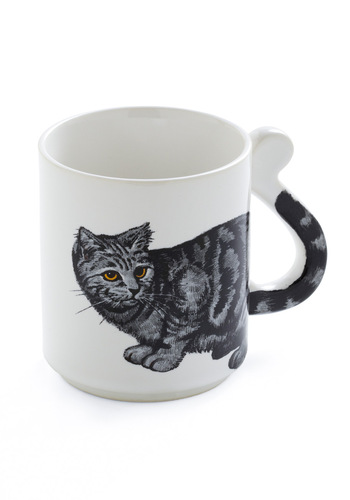 Vintage Morning Purr-son Mug