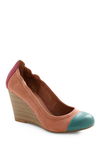 Miss Mesa Verde Wedge by Lucky - Multi, Green, Pink, Casual, Wedge