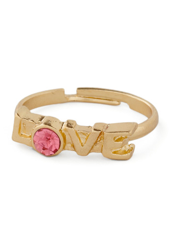 Fondness on Your Finger Ring - Fairytale, Gold, Pink