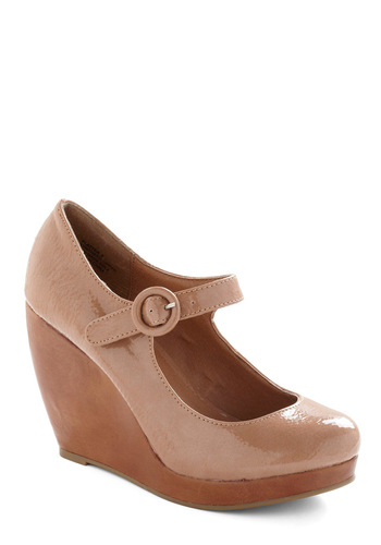 Public Sleeking Wedge in Ecru - Tan, Solid, Brown, Casual, Wedge