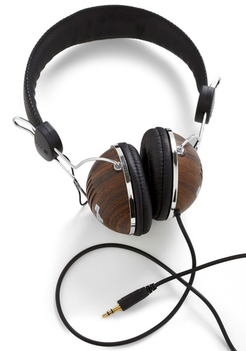 Opportunity Rocks Headphones in Hardwood - Brown, Black, Print, Dorm Decor, Travel