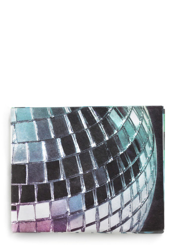 Night Out on the Funky Town Wallet - Blue, Purple, Multi