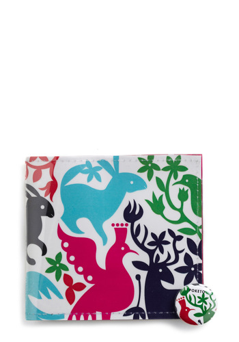 Kingdom of Cash Wallet - Multi, Red, Green, Blue, Pink, Black, White, Print with Animals, Novelty Print, Casual