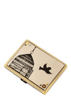 Sweet Escape ID Case - Cream, Gold, Print with Animals