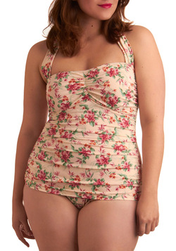 Gardenia Getaway One Piece in Plus Size