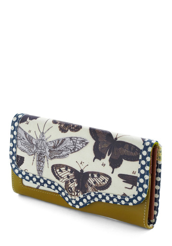 All the Buzz Wallet by Disaster Designs - Brown, Polka Dots, Print with Animals, Blue, White, Green